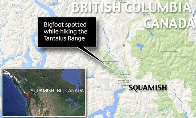 Съемка сделана в горах севернее Ванкувера